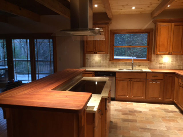 brazilian cherry butcher block countertops by armani fine woodworking