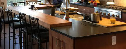 Cherry Butcher Block Countertop with Monocoat Finish by Armani Fine Woodworking