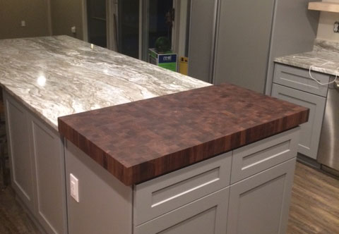 end grain walnut wood kitchen island countertop armani fine woodworking