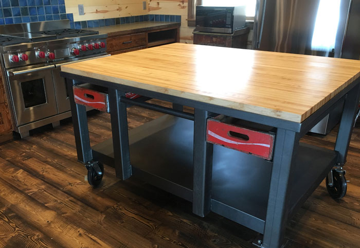 hard maple butcher block countertop by armani fine woodworking