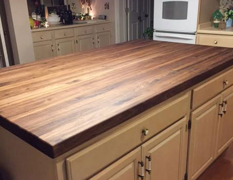 walnut butcher block wood kitchen countertop by armani fine woodworking