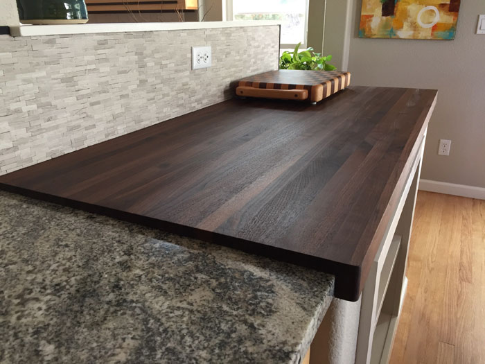 walnut wood butcher block kitchen countertop armani fine woodworking